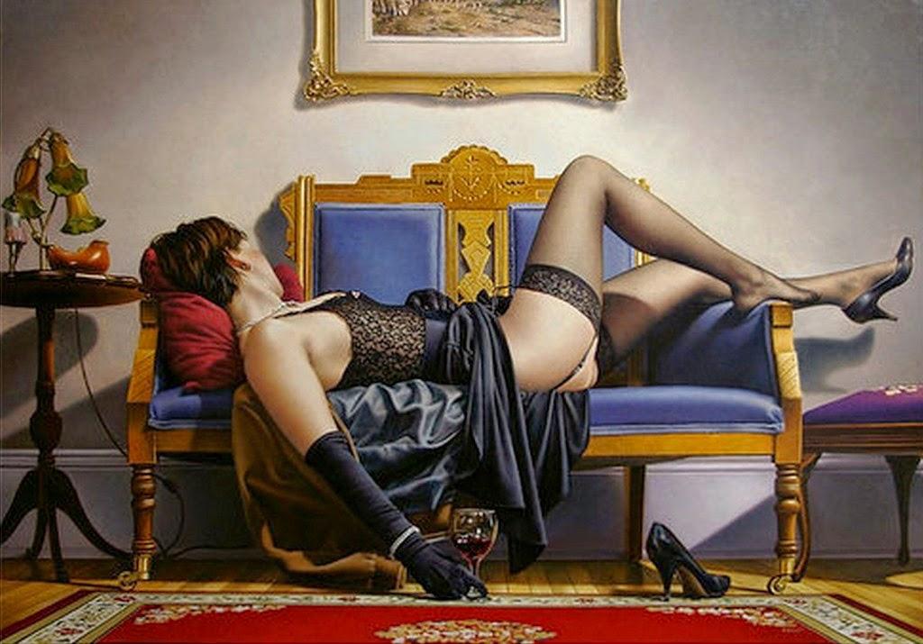 cuadros-al-oleo-de-mujeres-en-ropa-interior-negra