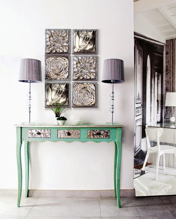 Sensaciones de hogar decorando inspirado en los colores for Muebles de entrada originales