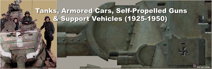 Tanks, Armored Cars, Self-Propelled Guns and Support Vehicles (1925-1950)