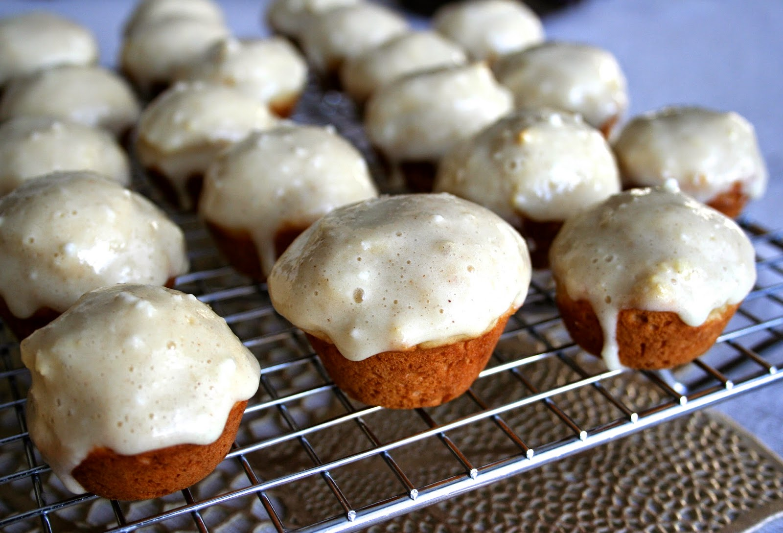 For the Love of Food: Mini Eggnog Doughnut Muffins