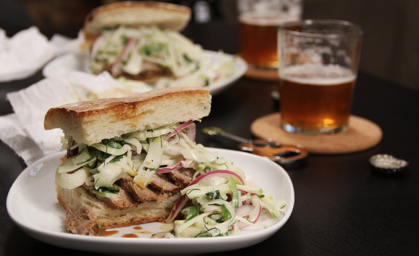 ... Salt : Roasted Pork Tenderloin Sandwiches with Apple Fennel Slaw