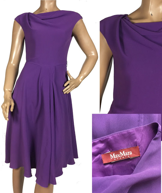 Rochie din crep violet MAX MARA