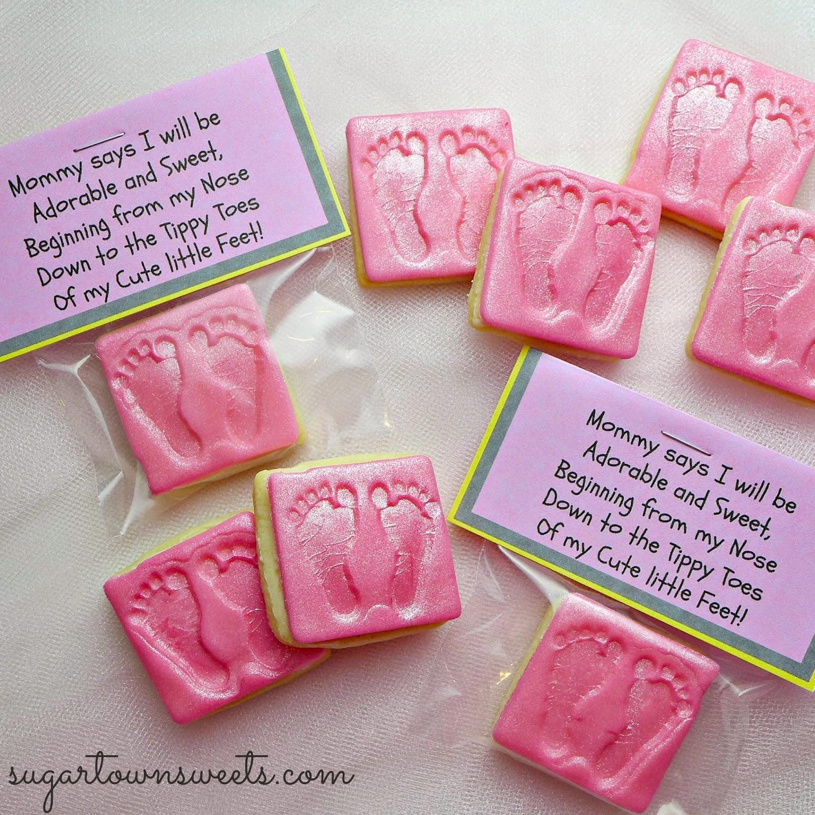 Sugartown Sweets Footprint Baby Shower Cookies