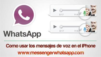 Como usar los mensajes de voz en el iPhone con WhatsApp