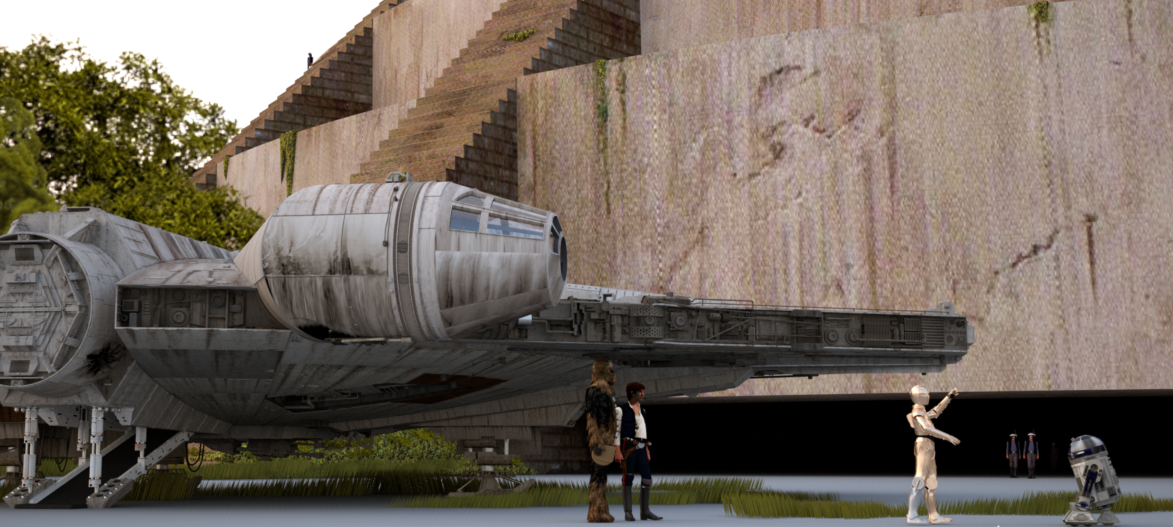 stinson s all things star wars blog landing at yavin base landing at yavin base