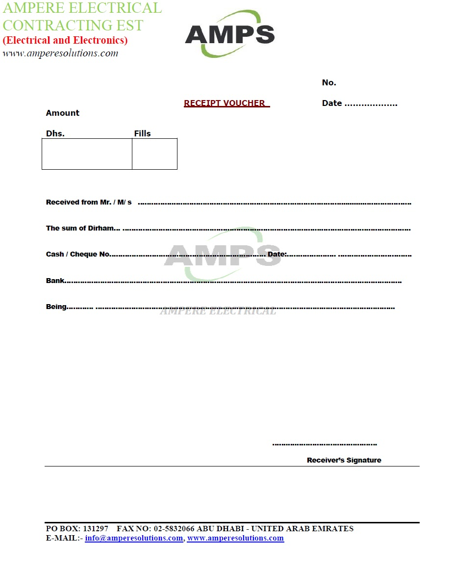 ampere electrical contracting est sample letters and