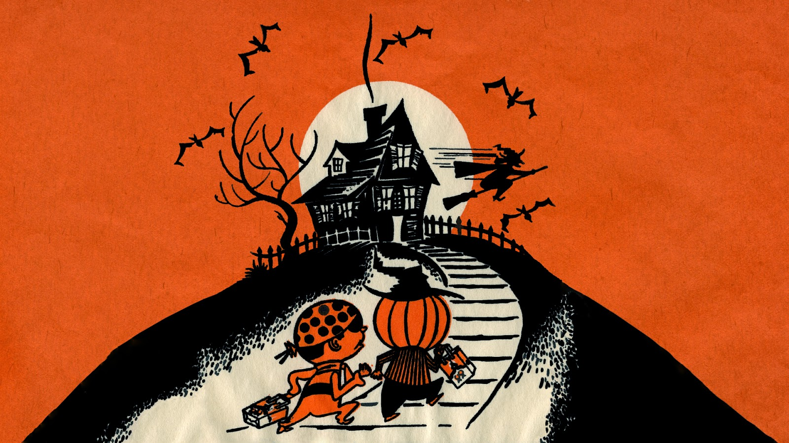 Most Inspiring Wallpaper Halloween Vintage - Trick%2Bor%2BTreating%2BWallpaper  Pictures_115418.jpg