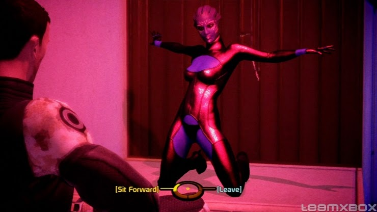 mass effect strip tease screenshot