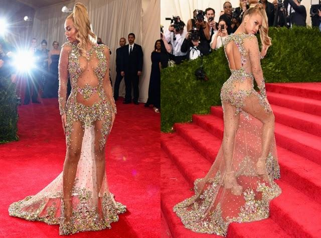 Gaun Transparan Beyonce di Met Gala 2015