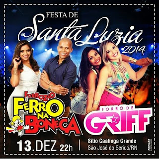 Dia13 de Dezembro Festa de Santa Luzia na Comunidade Cantiga Grande Municipio de São José do Seridó
