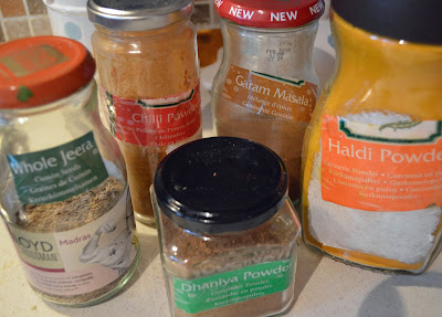 Indian spices in jars