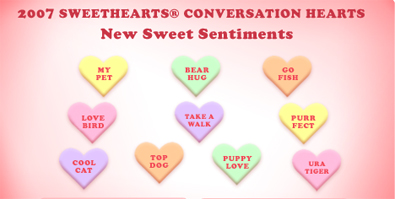 Sweet Valentine Candy Heart Sayings
