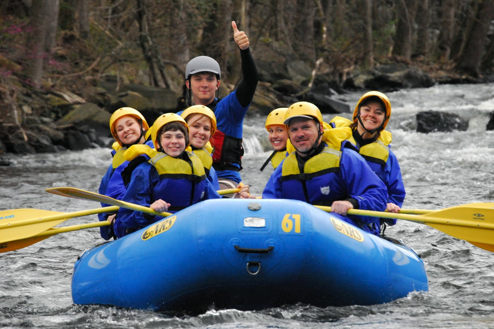 Family rafting fun on the Lower Pigeon River