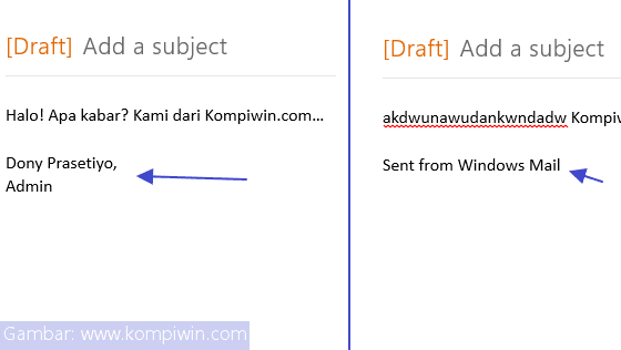 tanda tangan aplikasi mail windows 8.1