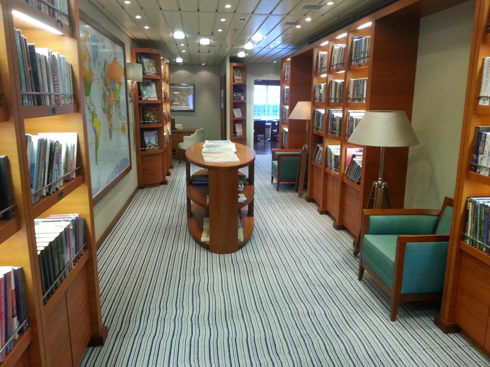Cruise Ship Saga Pearl II - Library & Future Cruise Sales Desk