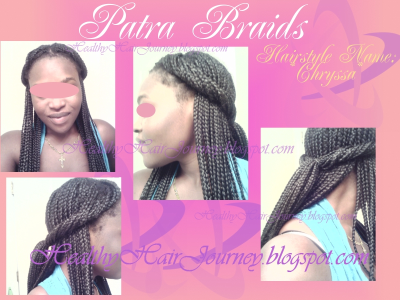 African Double Twist With Cornrows In The Front