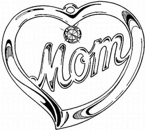 Mother's Day Heart Coloring Pages