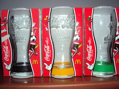 bicchieri coca cola mc donald's Europei calcio 2012