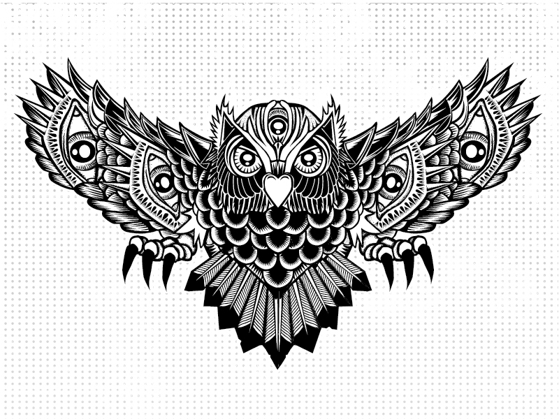 Native american owl tattoo - photo#16