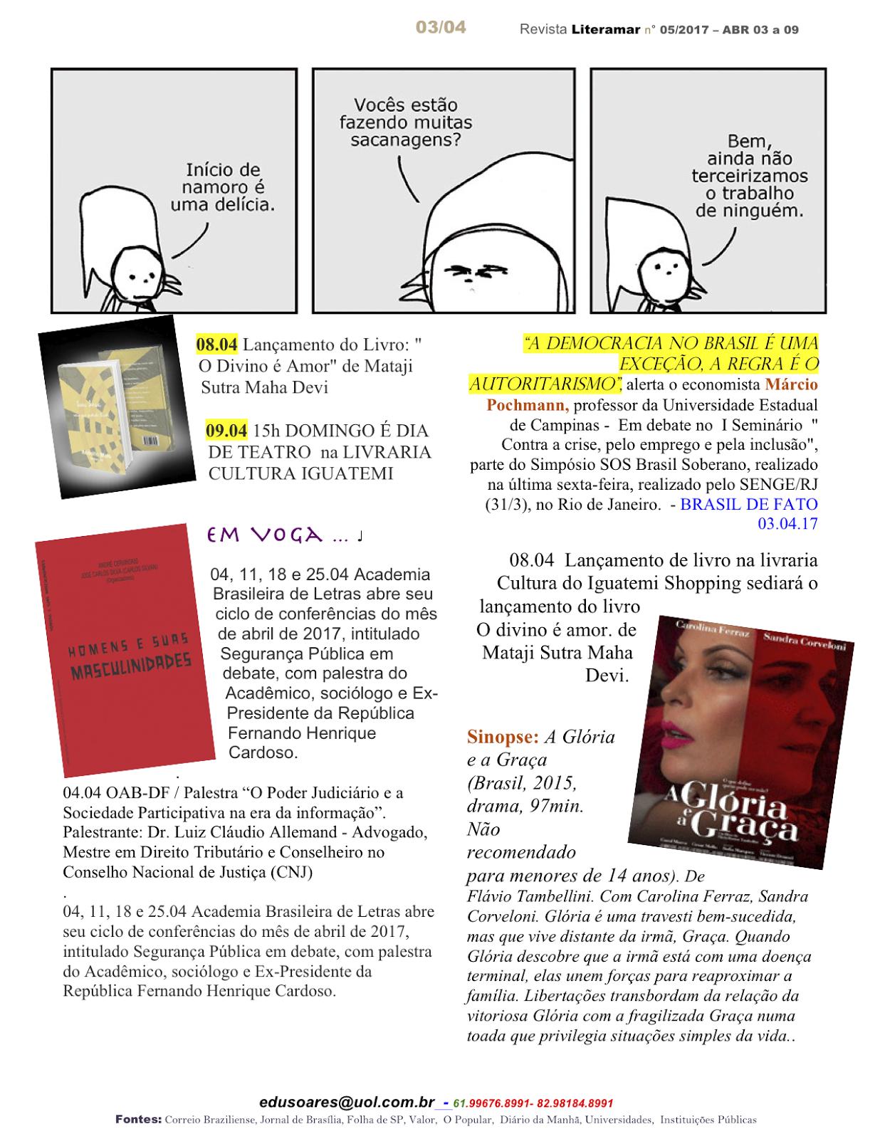 Revista Literamar 3/4, um encontro cultural em DF, GO e AL