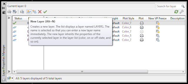 new layer autocad