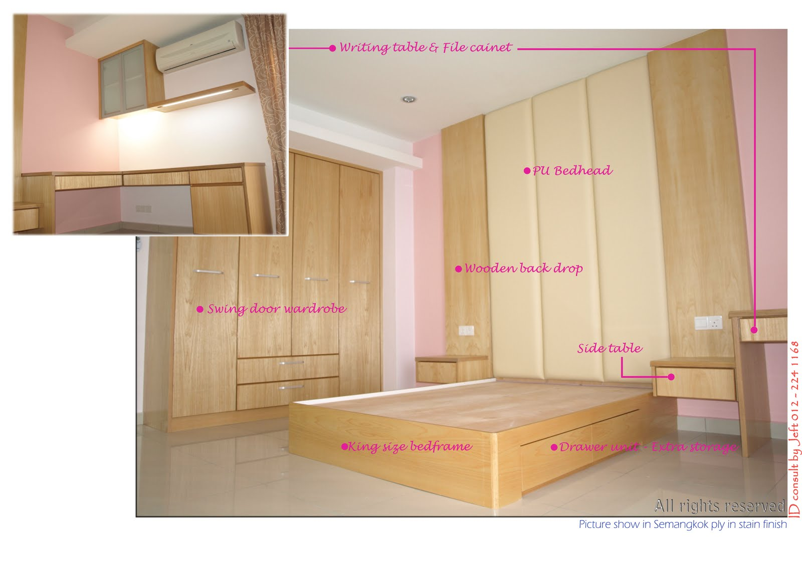 A e renovation works design for bedroom living hall for Hall kitchen design