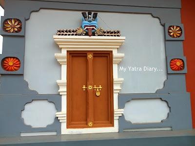 A window to the lords room, Shree Krishna temple in Kannur, Kerala