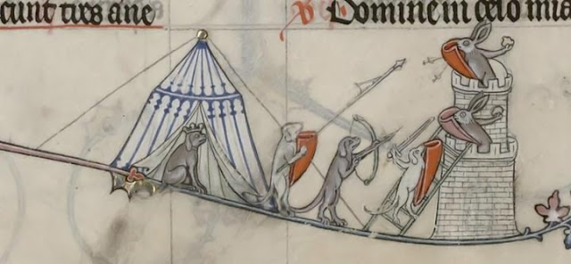 Day in Medieval Europe cats and rabbits