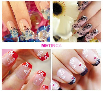 Diseños bonitos para uñas largas