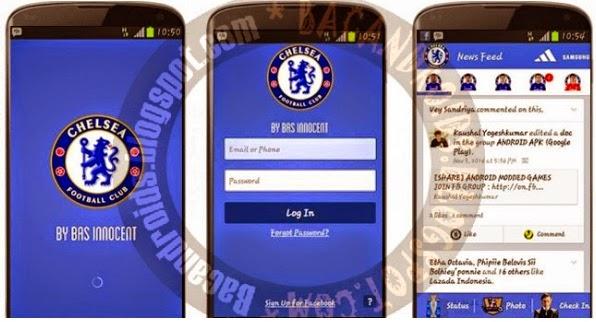 download Aplikasi Facebook Mod tema klub sepak bola chelsea fc
