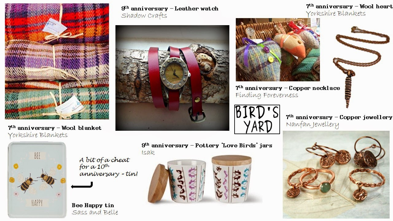 Anniversary gifts Bird's Yard Sheffield