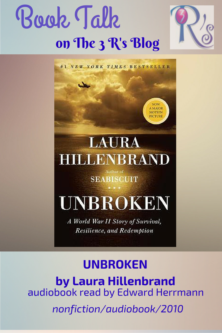 Audiobook discussion on The 3 Rs Blog UNBROKEN