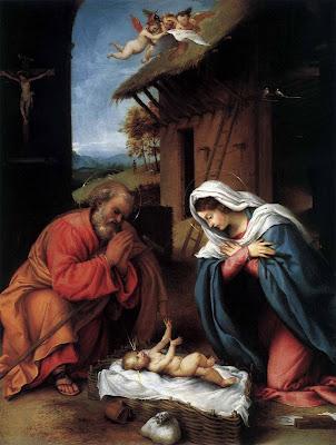 Nacimiento del Niño Jesus en Nochebuena para Navidad