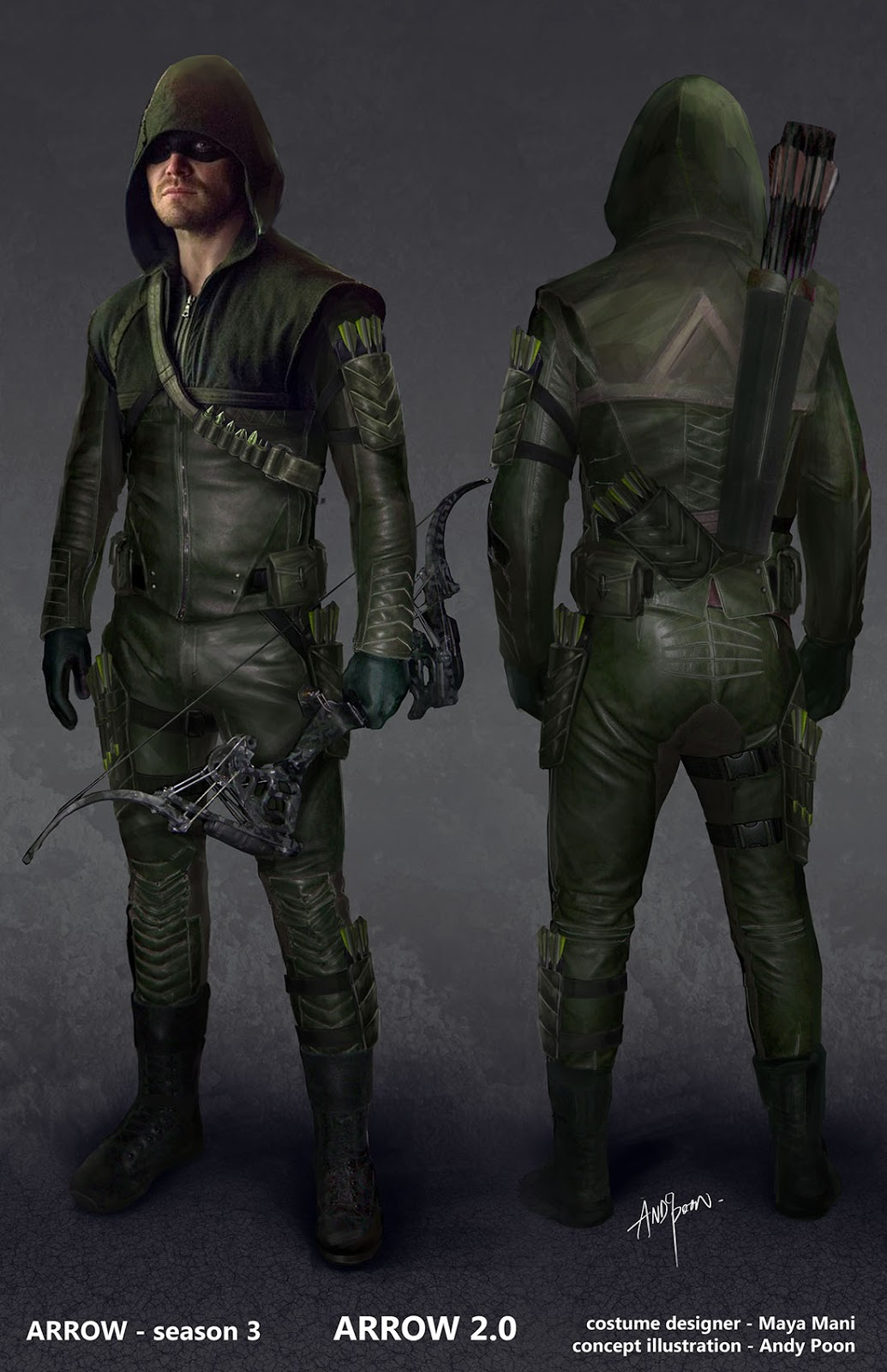 Green arrow back quiver