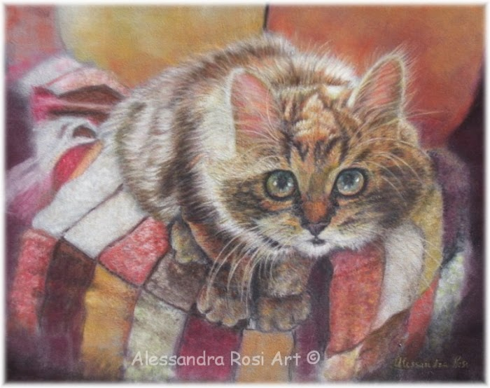 custom pet portraits- cat art- pet portrait painting