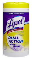 Try LYSOL® Dual Action Wipes for FREE – Printable Rebate Form