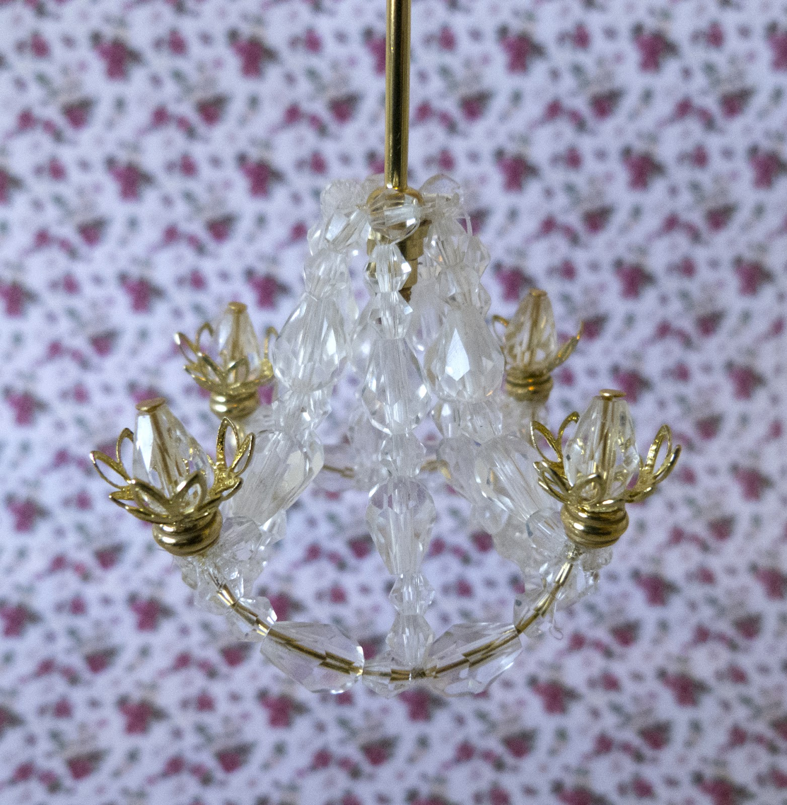 petite pursuits diy crystal chandelier