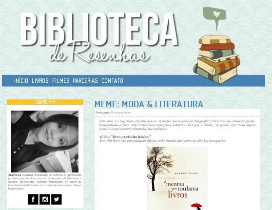 blog Biblioteca de Resenhas