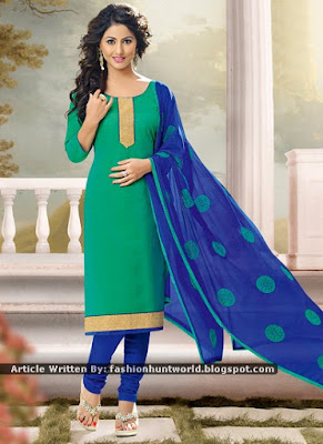 Green Hina Khan Dress Designs - Grey Shalwar Kameez Suits