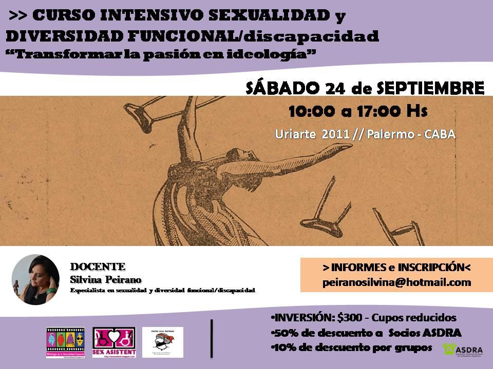 """Curso intensivo  """"Sexualidad y diversidad funcional/discapacidad"""""""