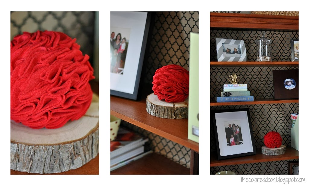 Valentines decor - the colored door