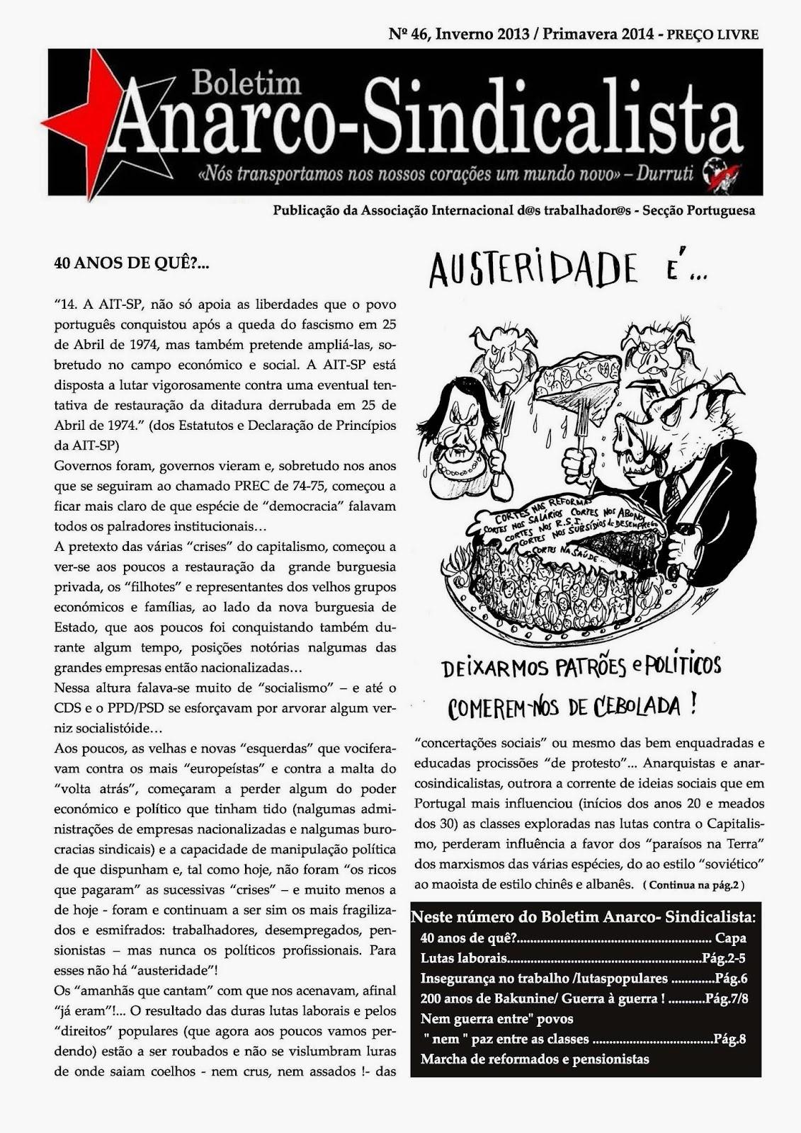 Boletim Anarco-Sindicalista nº 46 (Inverno 2013 - Primavera 2014)