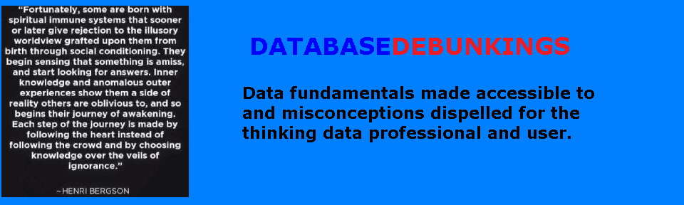 DATABASE DEBUNKINGS