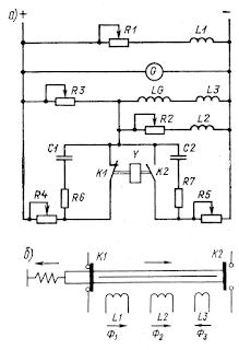 Принципиальная схема вибрационного регулятора напряжения генератора постоянного тока