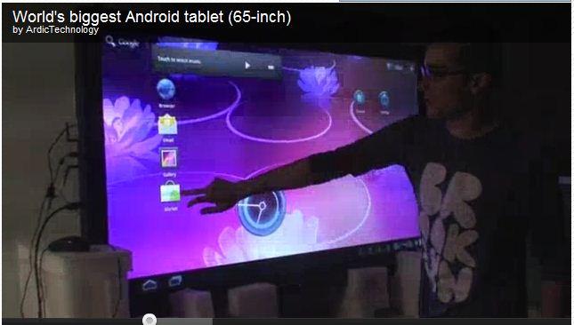 2if le plus grand cran tactile de 65 pouces tablette. Black Bedroom Furniture Sets. Home Design Ideas