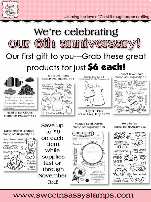 http://www.sweetnsassystamps.com/6-anniversary-sale/
