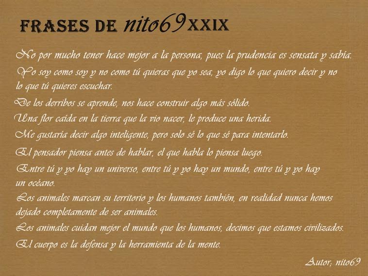 FRASES DE nito69 XXIX