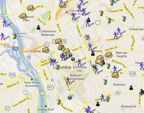 Columbia SC is on SpotCrime SpotCrime The Publics Crime Map