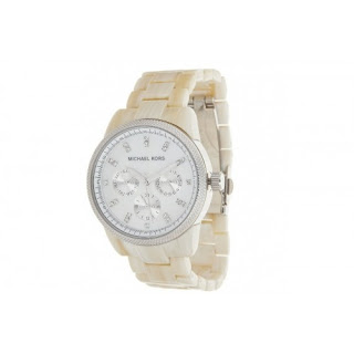 Michael Kors Women's Chronograph White Horn Acetate Watch