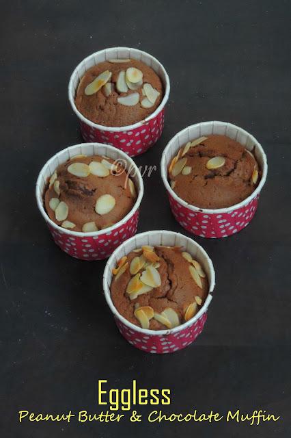 Butterless Peanut Butter & Chocolate Muffins